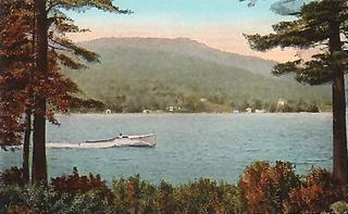 an old postcard showing my view