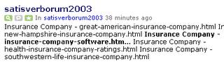 Technorati spam