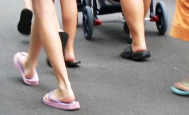 Feet fetish flip flop