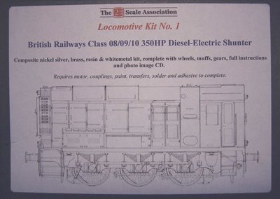 2mm Scale Association 08 diesel shunter kit - illustration on box