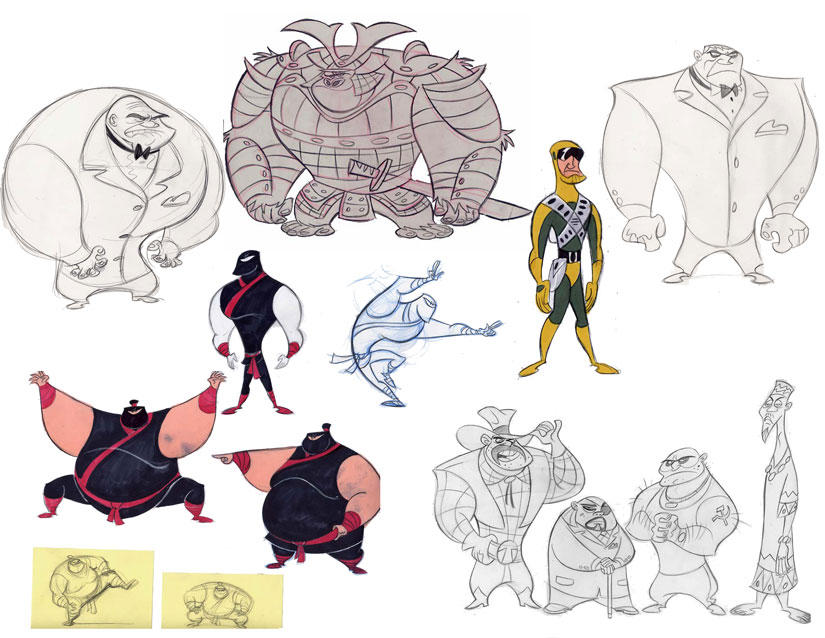 Stephen Silver Character Design Course : Stephen silver kim possible roughs