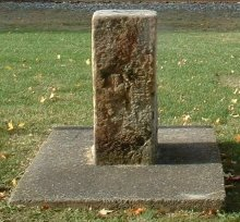 The Ol' Auction Block in Luray, Virginia, reportedly used for auctioning slaves in the 19th century.