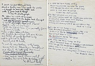 Beatles&#8217; and Lennons&#8217; Hand Written Lyrics to &#8220;A Day in the Life&#8221;