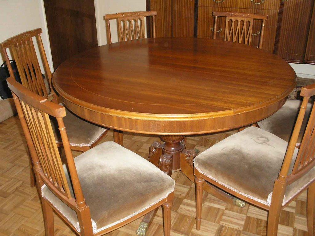 Charito ventas mesa con 6 sillas estilo ingl s tipo - Sillas estilo ingles ...