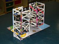 ponte feita con tubos de papel