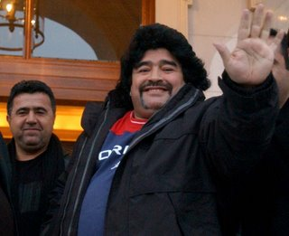 Maradona waves goodbye