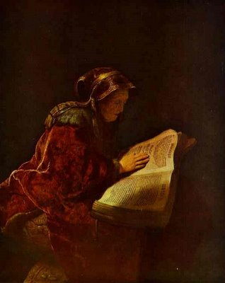Rembrandt's Mother as Biblical Prophetess Hannah
