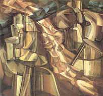 Marcel Duchamp, King and Queen Surrounded by Swift Nudes, 1912
