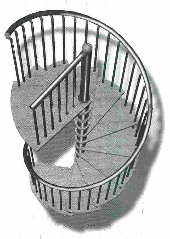 Eleve escaleras y barandas for Como trazar una escalera de caracol de concreto