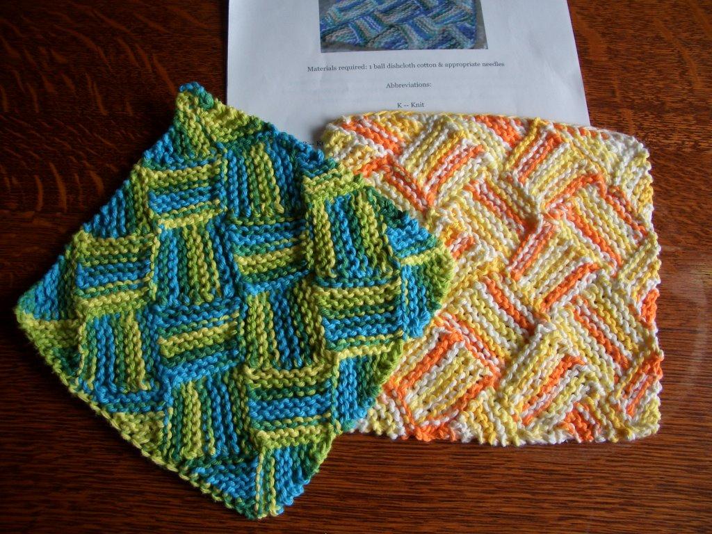 Entrelac Knitting Dishcloth Pattern : Smoking Hot Needles: Garterlac dishcloth!