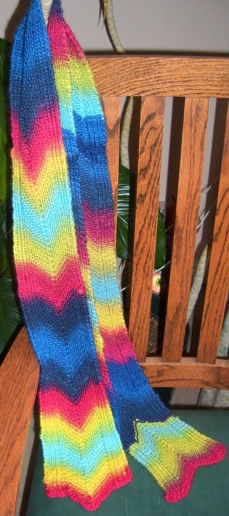 Free Patterns: Chevron scarf