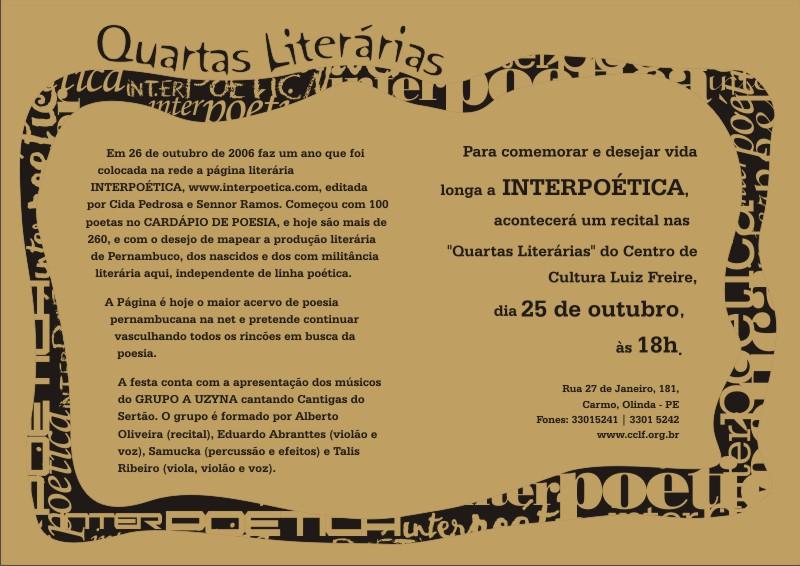 800adf97359 Blog de Luciano Siqueira  Convite poético