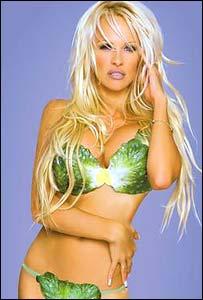Pamela Anderson con un bikini de lechugas
