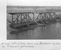 Alcantara spoorbrug na aanvaring met de Volendam - klik om te vergroten
