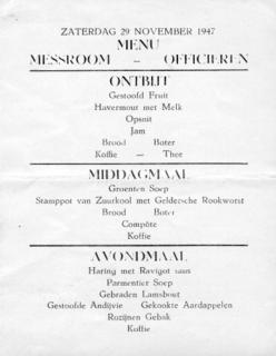 MENU MESSROOM - OFFICIEREN (klik om te vergroten)