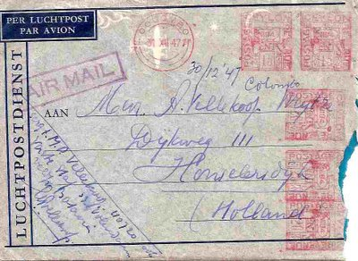 enveloppe uit Colombo