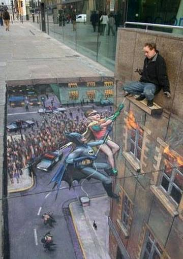Amazing Graffiti Art Painting: Batman Art