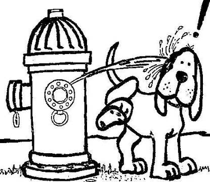 Fire hydrant revenge on dogs