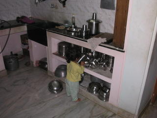 Checking out the kitchen