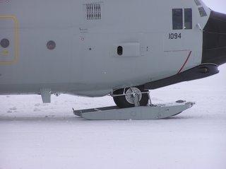 Front ski down