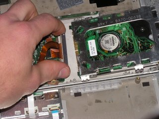 Removing the hard drive