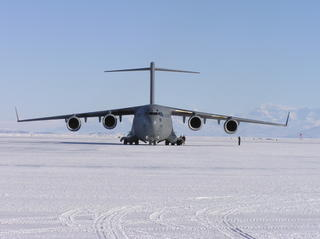 C-17 Sitting on the ice runway