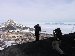 Jody and John being goofy above McMurdo