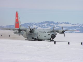LC-130 taking off from Ice Runway