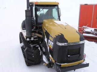 A Caterpillar Challenger bulldozer
