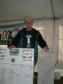 Bob Peoples with his hardcore signup boards
