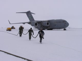 Airforce guys being extra nice to Jodie at the C-17
