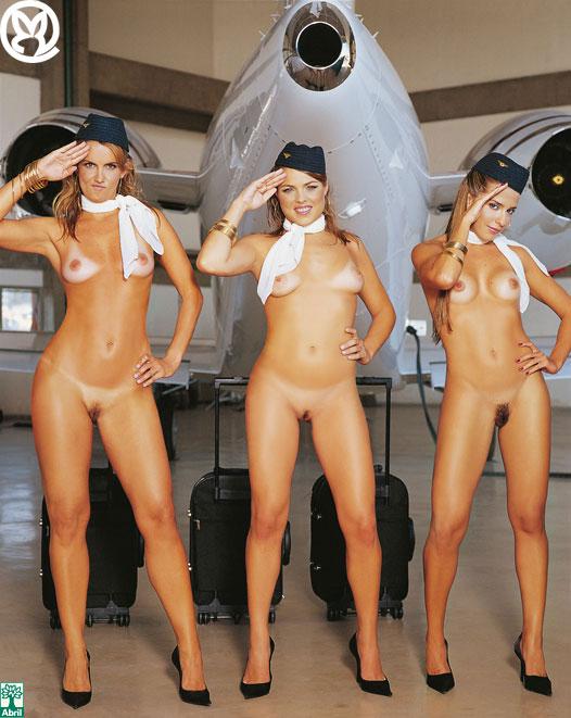 фото стюардесс голые