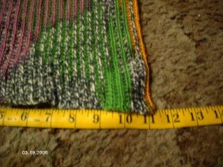 IMAGEN:Progreso después de usar casi una bola de lana Magic Stripes