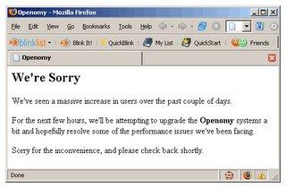 Openomy down