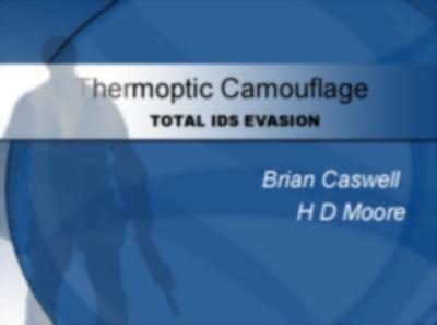 Thermoptic Camouflauge: