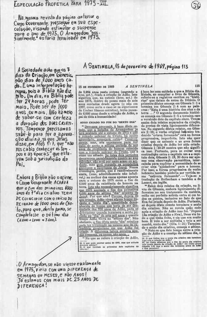 Especulação Profética do Corpo Governante Para 1975 (7)