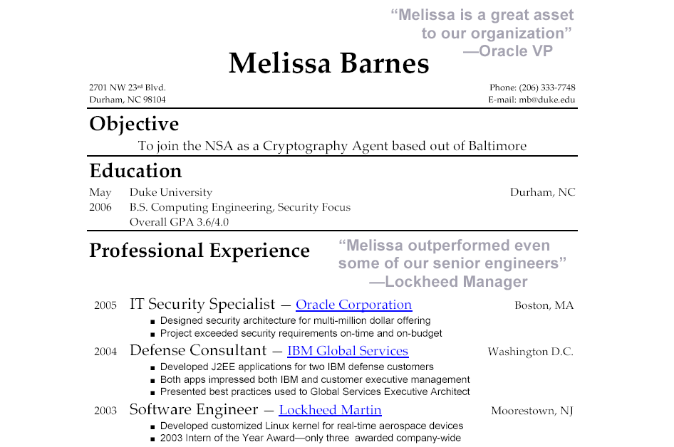 landing the job a plain and simple blog regarding career mobility - Inexperienced Resume Examples