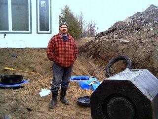 Glen, installing the septic