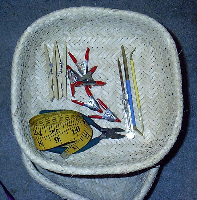 Basket Weaving Tools Beginners : Weaving the cherokee double weave basket tools