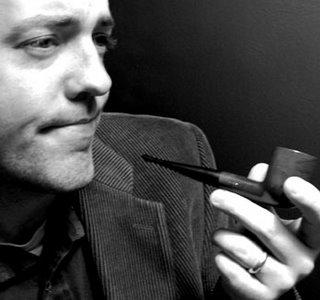 David Hopkins, comic genius, looking all contemplative and professorial