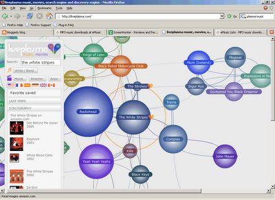 liveplasma.com screen shot