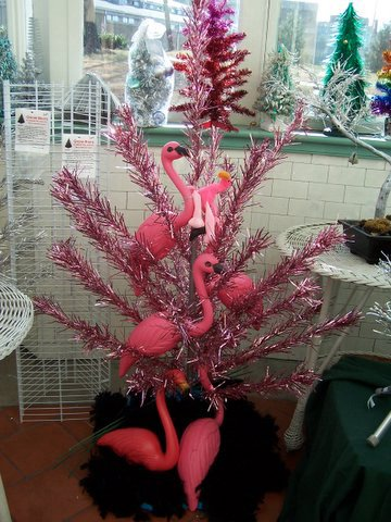 Flamingo Christmas Tree Topper