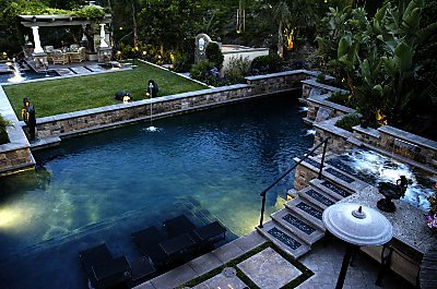 Fifteen Foot Waterfalls, Rope Swings, Hot Tubs That Flow Into The Pool From  Five Feet Above, Fiber Optic Lighting Systems, And Audio Powerhouses That  Turn ...