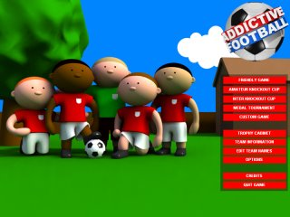 New Addictive Football Main Menu Screen - Click to Enlarge