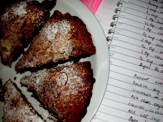Choco cocont scones