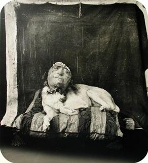 Joel-Peter Witkin - Dog on a pillow - 1994
