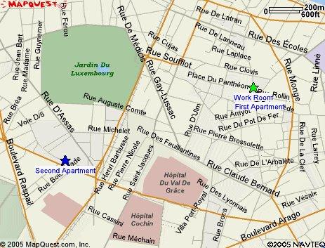 a map of hemingways area of paris