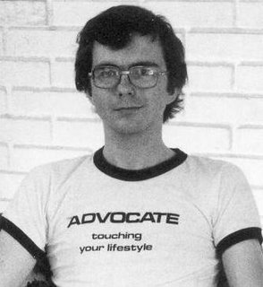 Thomas Kraemer wearing The Advocate touching your lifestyle t-shirt in 1976