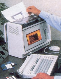 HP Integral PC as shown being used in Professional Computing July/August 1985, p. 21