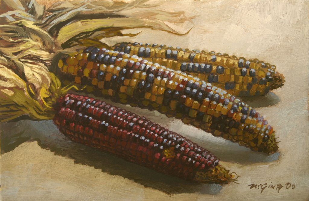 Indian Corn Drawing of Some Indian Corn